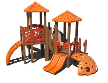 Heavy duty 2 bay 4 swing swingset